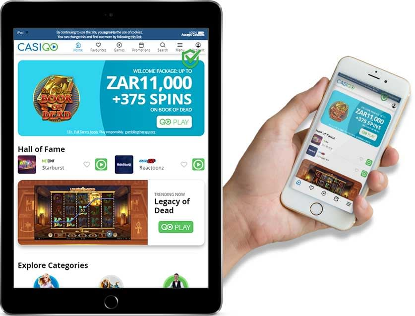 Ipad and Iphone Screenshots of Casigo Online Casino