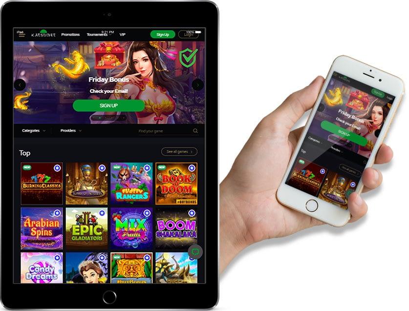 Ipad and Iphone Screenshots of Katsubet online casino