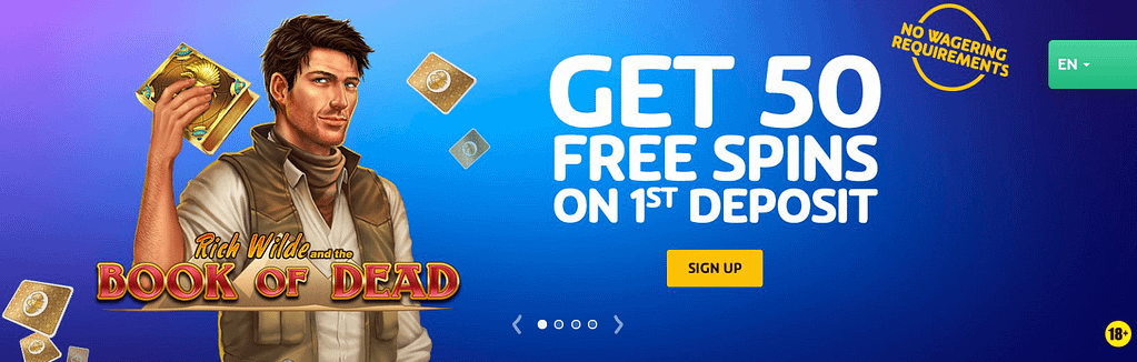 Rich Wilde and Book of Dead at PlayOjo - Welcome Bonus of 50 Free Spins on 1st Deposit