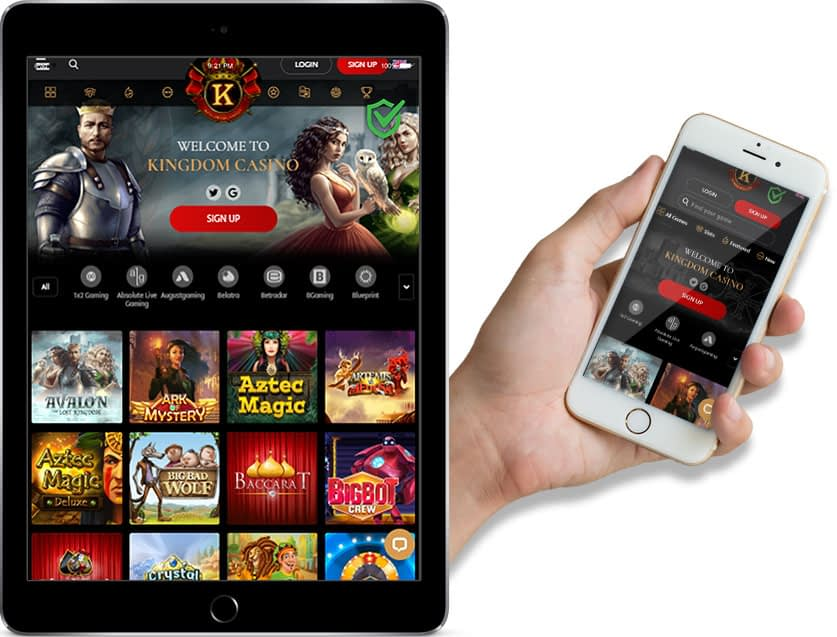 Ipad and Iphone Screenshots of Kingdom casino