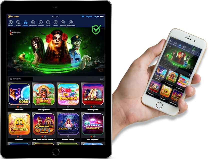 Ipad and Iphone Screenshots of Mozzart Bet Casino Section