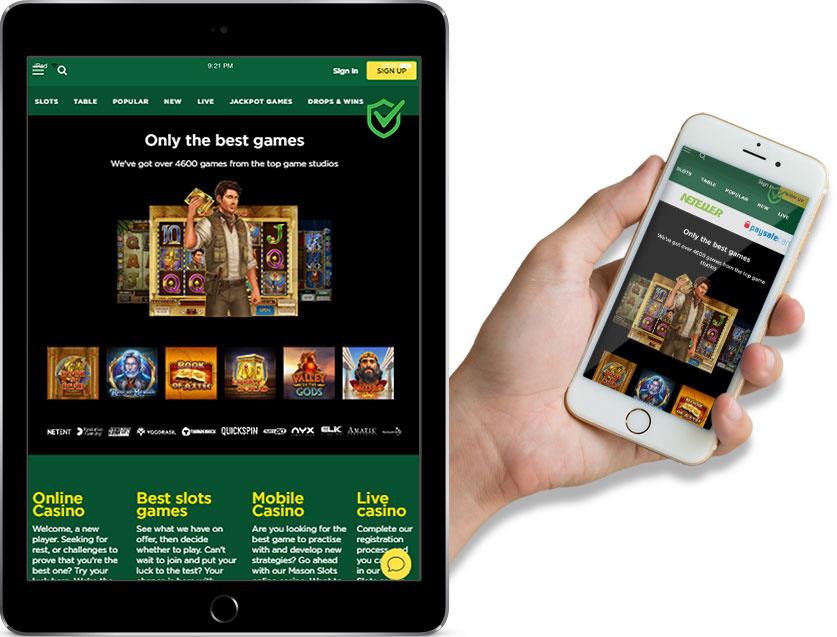 Ipad and Iphone Screenshotsof Mason Slots Online Casino