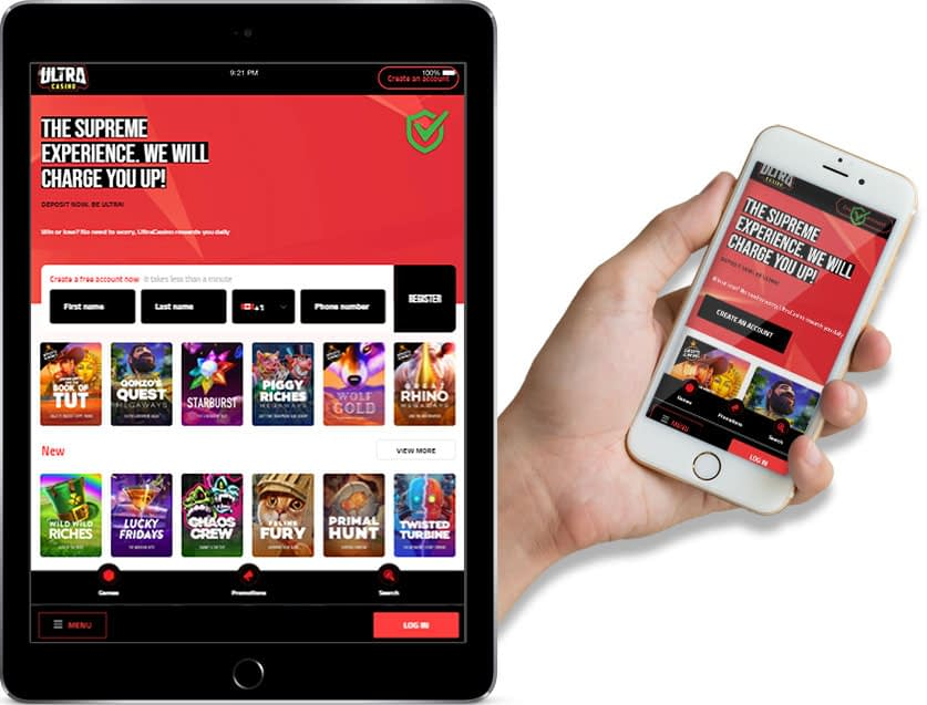 Ipad and Iphone Screenshots of Ultra Casino