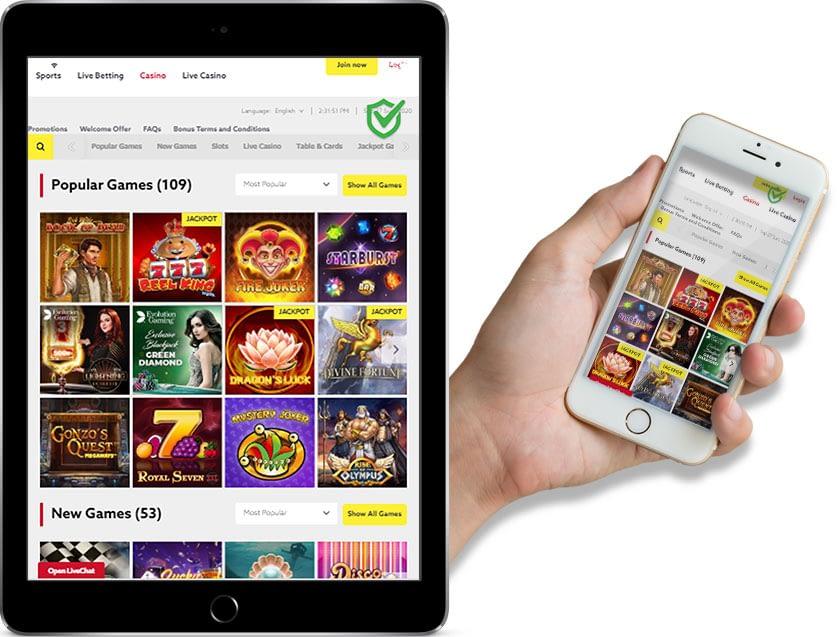 Ipad and Iphone Screenshots of funbet Online Casino