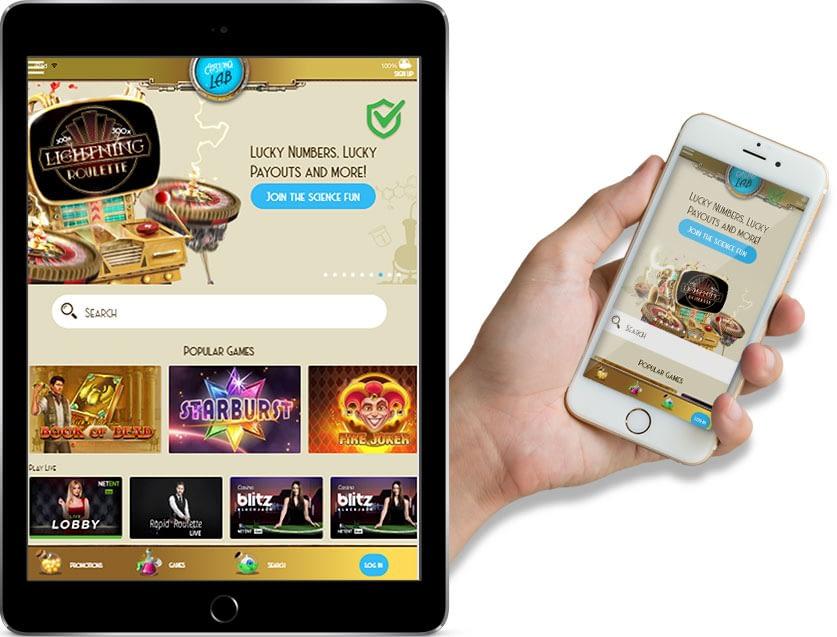 Ipad and Iphone Screenshots of Casino Lab