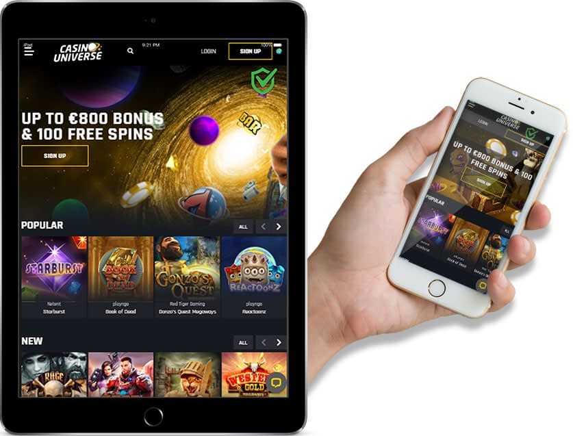 Ipad and Iphone Screenshots of Casino Universe