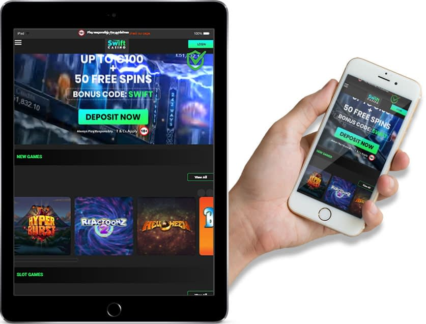 Ipad and Iphone Screenshots of Swift Casino