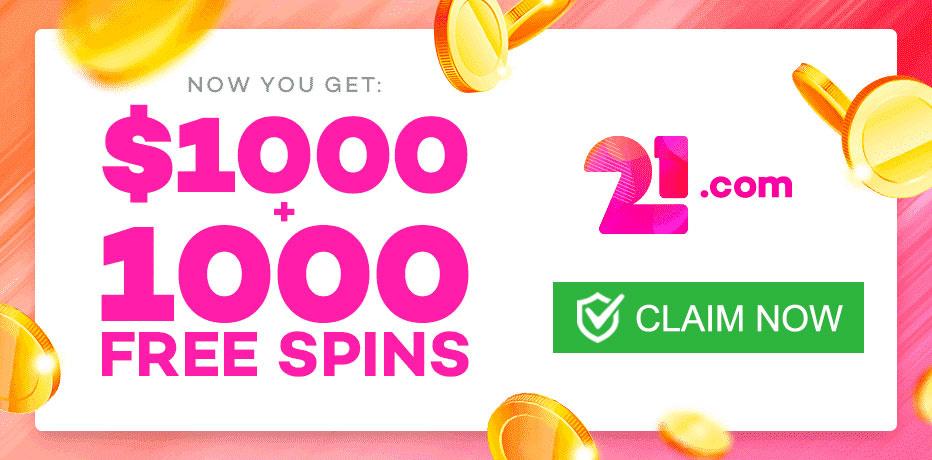 Claim 21.com Casino Free Spins